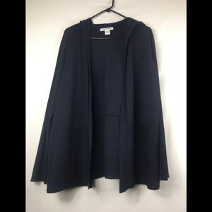 99 jane street navy blue hooded knit cardigan 1X
